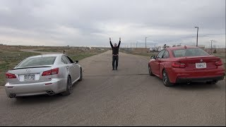 2014 BMW M235i Vs Lexus IS F Drag Race: Mighty V8 Vs
