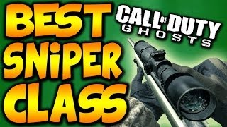 "COD Ghosts: ""BEST SNIPER CLASS"" Best Sniping"