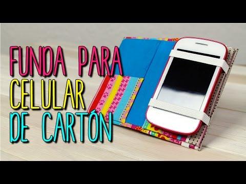 Como hacer Funda para Celular con Cartón - DIY Funda para móvil - Cartonaje