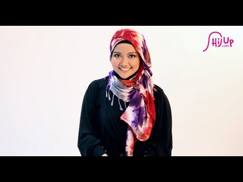 Hijab Tutorial Style 27 by HijUp.com, HijUp.com - World First Islamic Fashion Center | Check the designers collections at http://www.hijup.com/ | HijUp Festival : http://www.hijup.com/festival/ab...