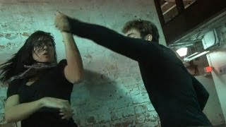 Brutal Woman Fights Man