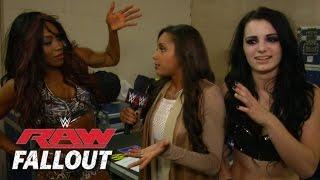 Raw Fallout - Declaraciones de Paige y Alicia Fox