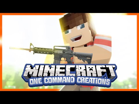 Guns in Vanilla Minecraft - One Command Creation (Minecraft Extra Weapons)