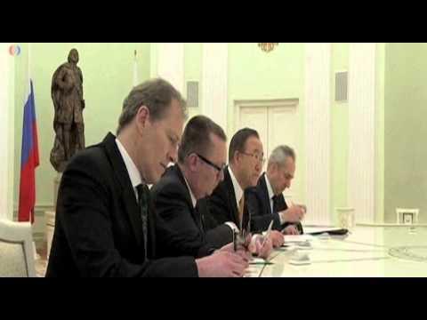 Ban expresa preocupación a Putin