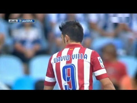 Real Sociedad vs Atlético Madrid (1-2) All Goals & Highlights 01.09.2013 David Villa