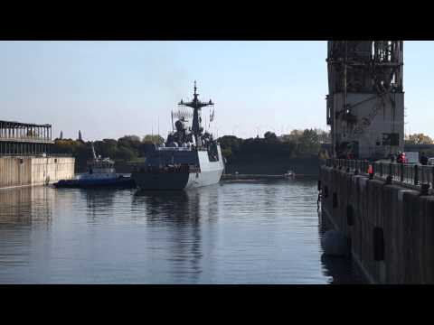 South Korean Destroyer ROKS Dae Jo Yeong Berths In Old Port Of Montreal 8