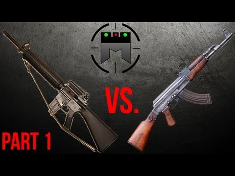 AR vs. AK comparison with champion shooter, Jerry Miculek: Part 1