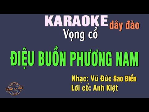 Tân cổ | Điệu Buồn Phương Nam || Karaoke vc 1-2-6
