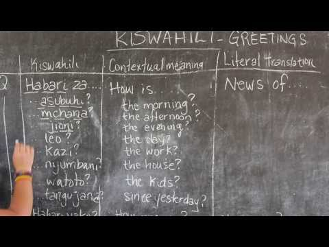 BEST Swahili Tutorial - Video #2 - Greetings Part 2 (Live from Tanzania)