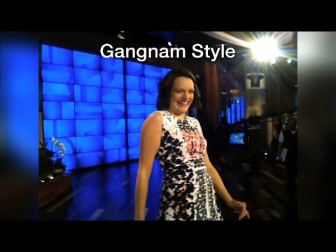 Heads Up! Elisabeth Moss Dances for Ellen