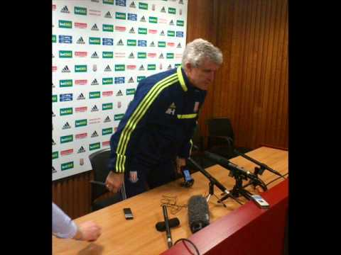Mark Hughes praises Stoke City's Geoff Cameron + Shawcross Walters Crouch injuries