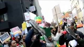 Ethiopians in Seoul, South Korea, hold demonstration against the mistreatment of Ethiopians in Saudi