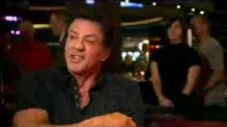 Piers Morgan With Sly Stallone At Planet Hollywood Resort