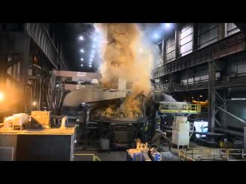 Check out the new electric arc furnace being fired up at Republic Steel in Lorain. #republicsteel