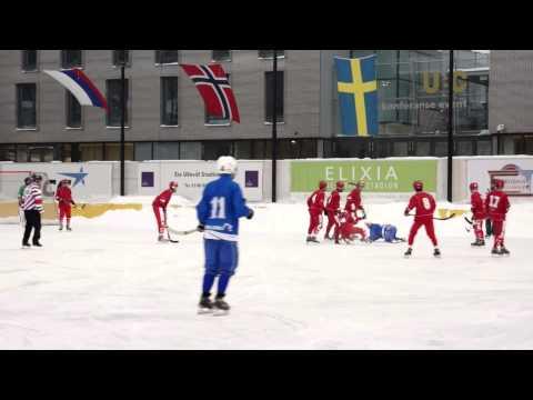 Bandy JVM 2014. Finland - Ryssland.