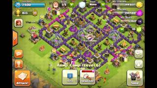 BEST Clash Of Clans Defense- Town Hall 8 Farming Base