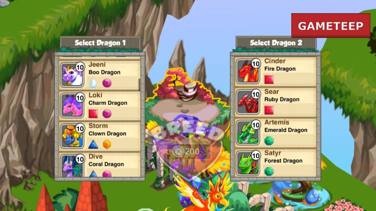 how to breed dragon story dragons list