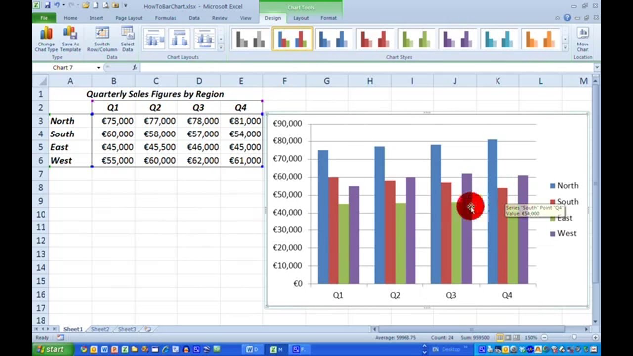 how to get bar graph in excel