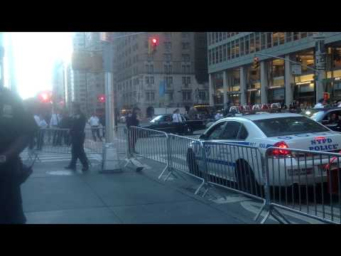 President Obama Motorcade United Nations on 6th Ave, New York September 24, 2013