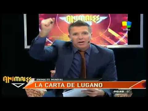 #ElProgramaDeFantino Fantino euforico leyendo la carta de Diego Lugano