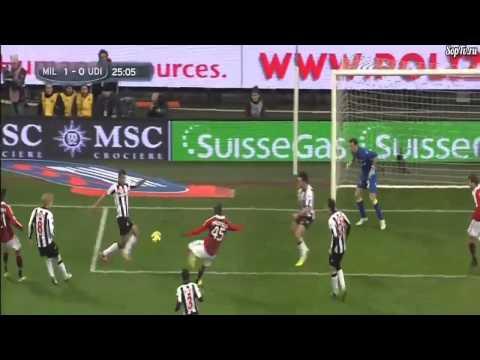 Balotellis first goal at AC Milan vs Udinese (1:0;2013)