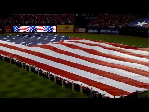 F-16 Flyover World Series Game 3 National Anthem (Raw HD)