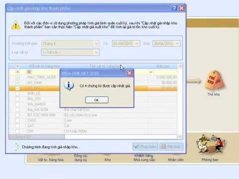 Phần mềm misa 2010  phân hệ kho - học kế toán excel trực tuyến