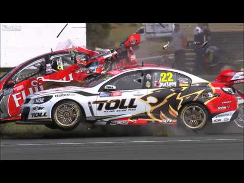 V8 Supercars Racing   Spectacular Crash in Slow Motion