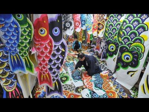 「鯉の季節」へ急ピッチ 埼玉県加須市