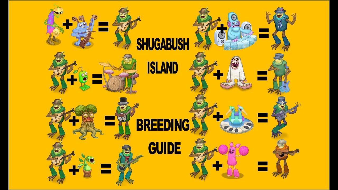 Shugabush My Singing Monsters Breeding Guide