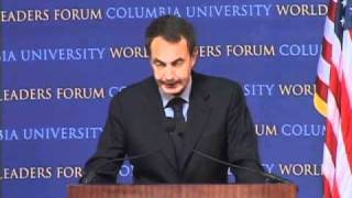Prime Minister of Spain, José Luis Rodríguez Zapatero at World Leaders Forum