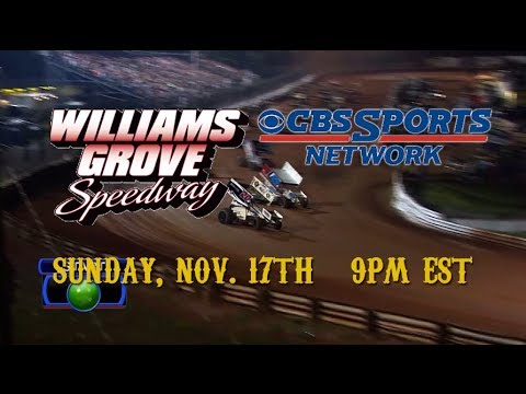 Williams Grove National Open: Airs Sunday, Nov. 17th on CBS Sports Network