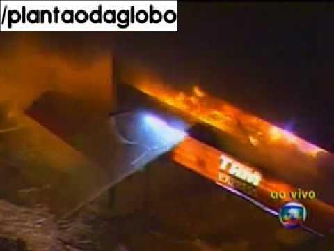 Plantão da Globo- Acidente com avião da TAM- (17/07/2007)