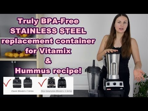 Stainless Steel Replacement Container for Vitamix & Hummus Demo