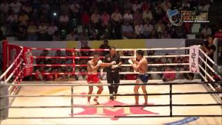 Myanmar Lethwei-The Pyay Nyo(Red) Vs Muay Thai-Nat Ta Dat