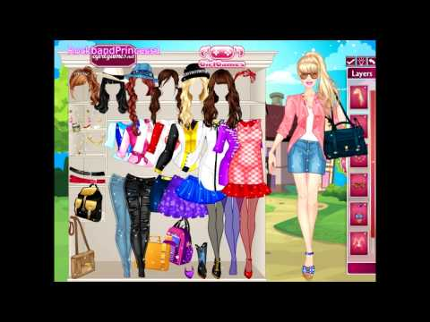 Barbie Games For Girls To Play! Barbie College Princess Dress Up Game