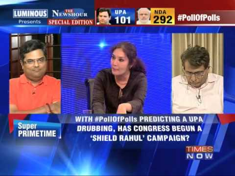 The Newshour Debate: 'Shield Rahul Gandhi' strategy - Full Debate (13th May 2014)
