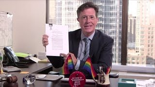 Stephen Colbert: Legalized Rainbows