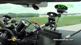 Volkswagen Golf ESC test - Euro NCAP 2012