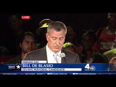 Bill De Blasio NYC Primary Victory Speech - 9/10/2013