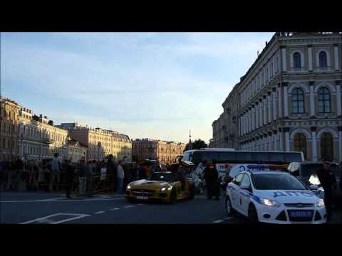 Team Betsafe Gumball 3000 '13 - Cars arrival to St Petersburg