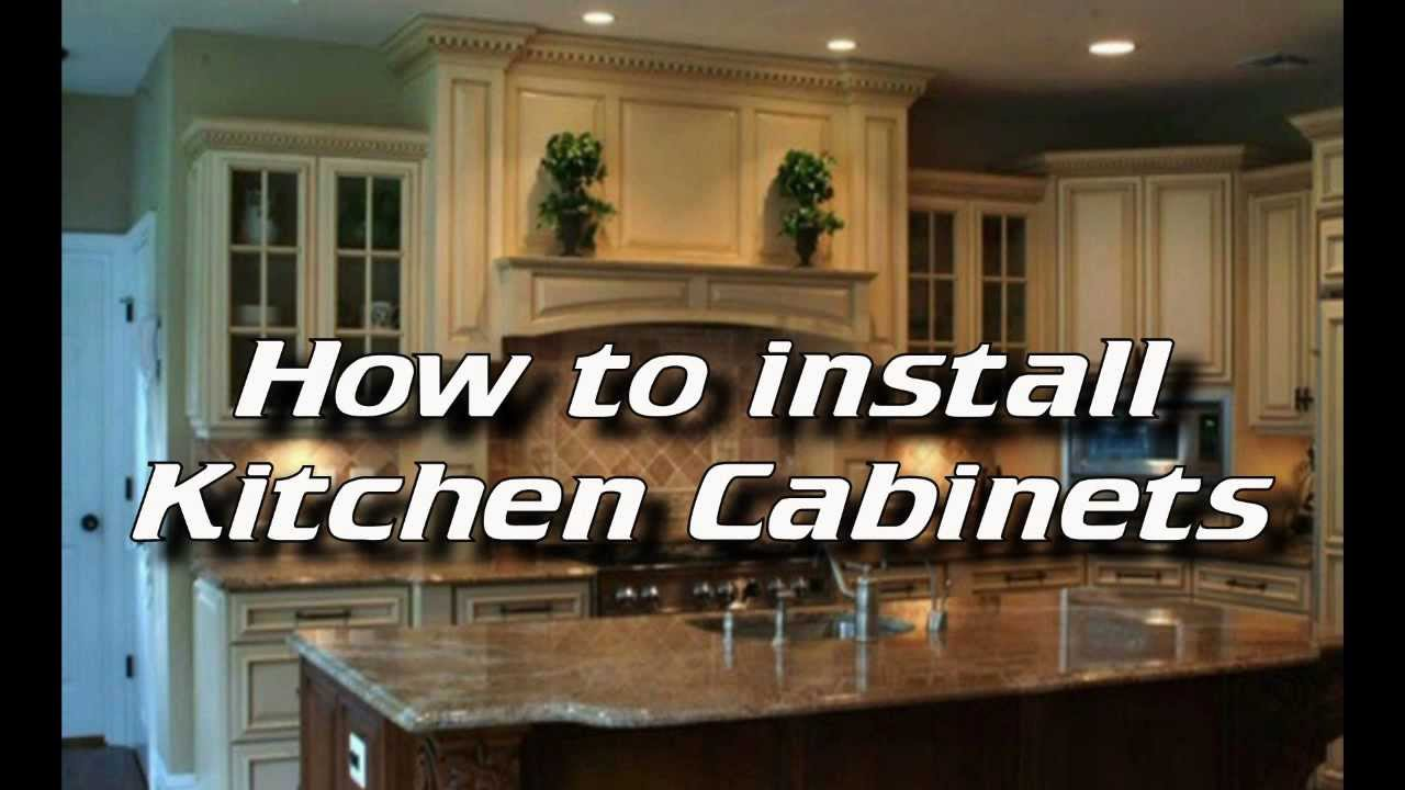 How to install kitchen cabinets installing kitchen for Installing kitchen cabinets