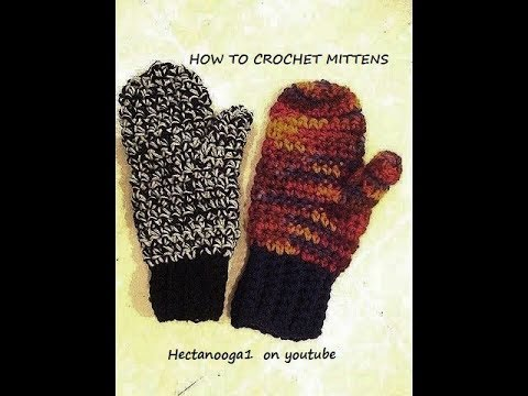 How to crochet mittens - YouTube