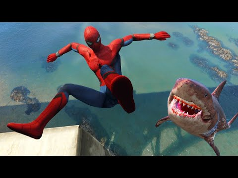 GTA 5 Spiderman Epic Water Fails | Funny ragdolls vol.4 (Euphoria physics)
