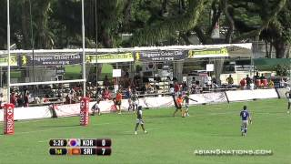 Video: Sri Lanka vs South Korea - Cup Quarter Finals #Singapore7s