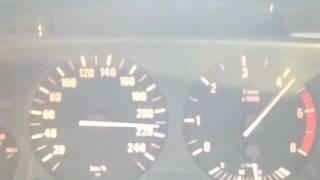 Разгон BMW 525tds с двигателем BMW M57D25 до 220 км/ч