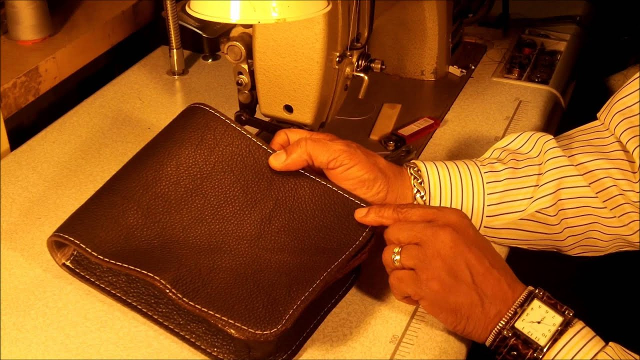 How To Make Leather Messenger Bag Part 6 Of 7 Youtube