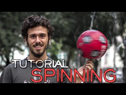 Como girar uma bola no dedo - How to spin a ball on your finger / spinning tutorial