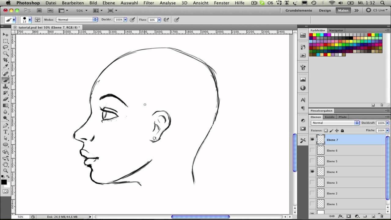 Frauen zeichnen (3): Der Kopf im Profil - YouTube