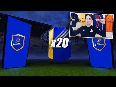 20x LA LIGA TOTS UPGRADE PACKS! (FIFA 18 Ultimate Team)